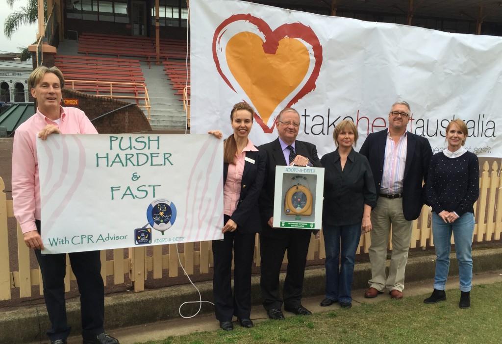 John & Elizabeth Lucas with Adopt-A-Defib & Take Heart Australia